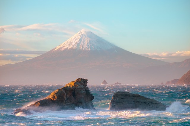 Mount Fuji as seen from the sea.jpg