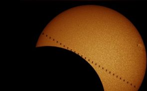 Eclipse Of The Sun And ISS