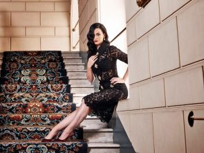 Katy on the stairs