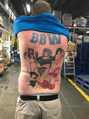 BBW Back Tattoo