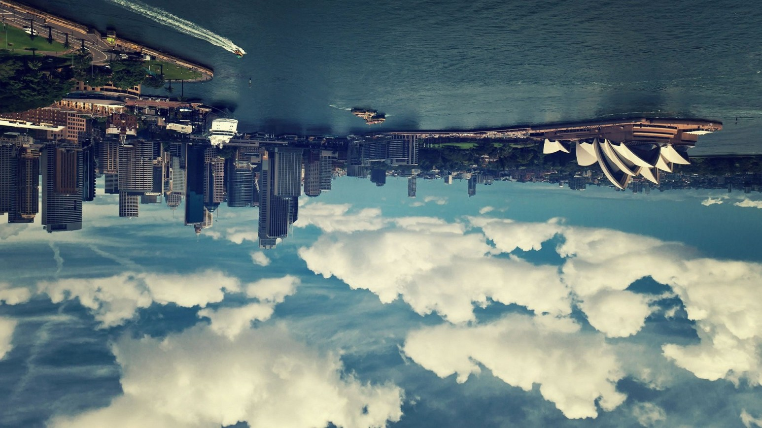 Upside down city