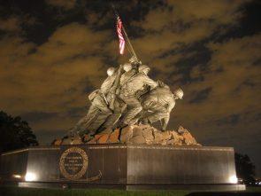 USMC War Memorial At Night.jpg