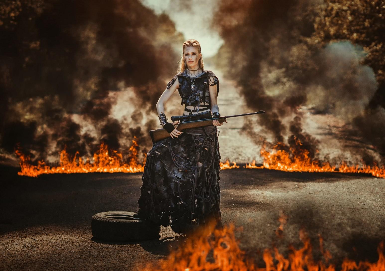 Rifle and Flame
