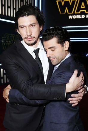 Adam Driver accepting his Oscar