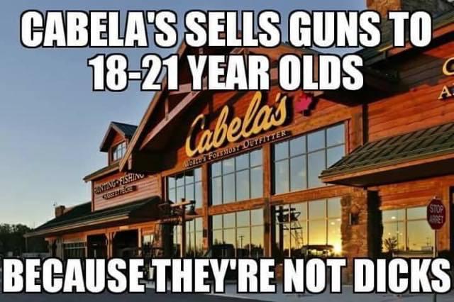 Cabela's isn't dicks