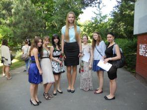 a tall graduation