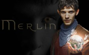 Merlin holding a castle