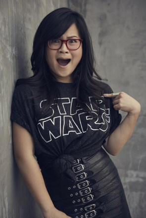 kelly marie tran is totally awesome in a star wars shirt