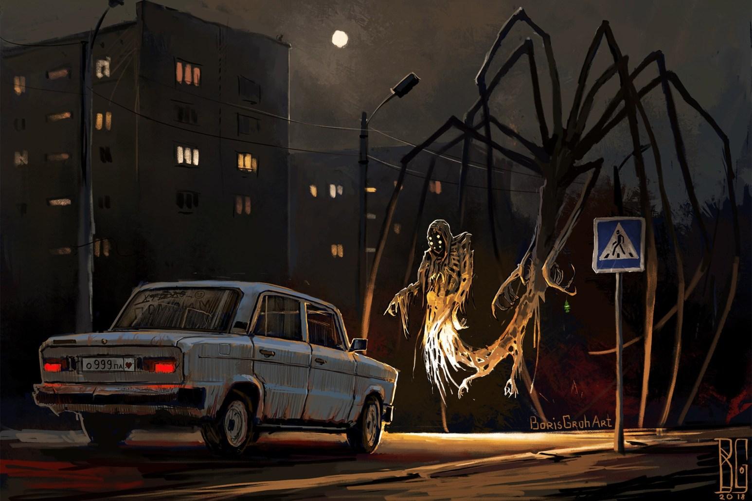 Spooky Car STop