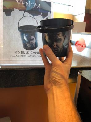 Venom candy cup