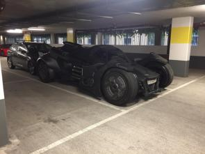Batmobile in the parking garage.jpg