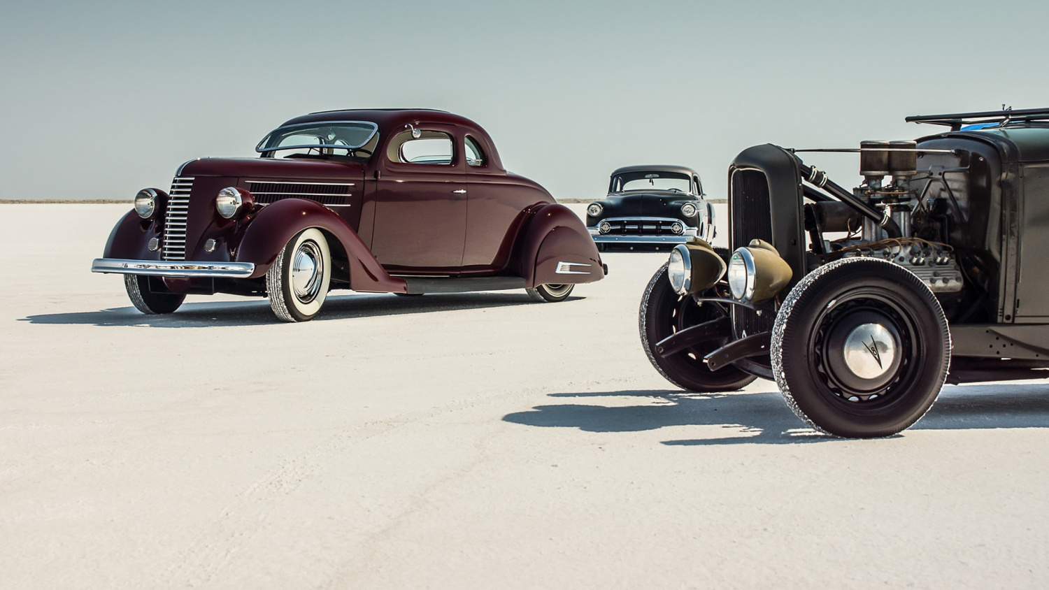 classic cars on the flats