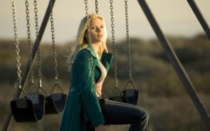 Scarlett Johansson on a swing