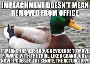 impeachment doesn't mean removed from office