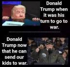 Donald Trump going to war