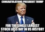 Congratulations President Trump