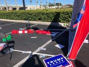 Van almost crushed election volunteers
