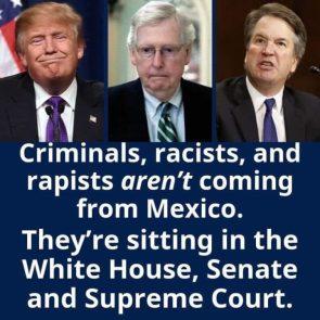 CRIMINALS RACISTS AND RAPISTS
