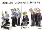 ENABLERS STANDING SILENTLY BY