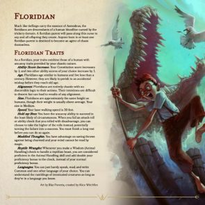 Floridian Character Sheet