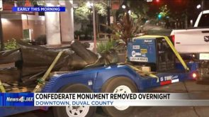Confederate statue removed from park overnight others in Jacksonville also coming down