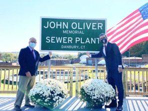 John Oliver visiting Danbury for renaming of John Oliver Memorial Sewage Plant