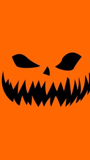 orange horror face