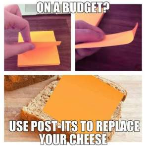 Grilled cheese on a budget