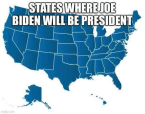 STATES WHERE JOE BIDEN WILL BE PRESIDENT