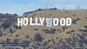 Six in custody for unauthorized changes to Hollywood sign