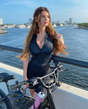 Ashley T goes biking