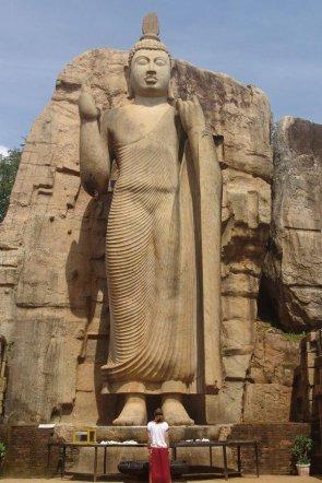 Aukana Buddha the tallest freestanding statue in Sri Lanka at 38 feet built during the 5th century