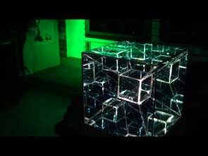 Tesseract LED Infinty Mirror Art Sculpture by Nicky Alice 4K