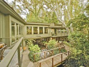 Kaweah Falls House built over the main fork in Kaweah River California