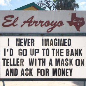 Mask at bank