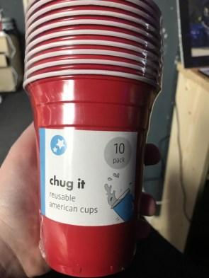 CHUG IT reusable american cups