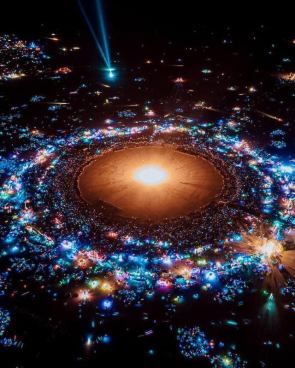 This shot from Burning Man looks like it's from space