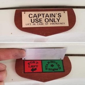 Captain's Use Only