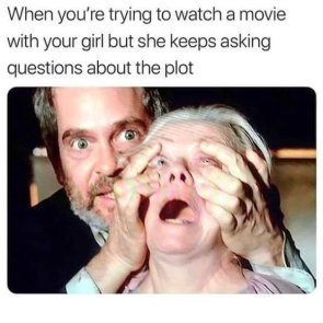 watching movies with loved ones can be painful