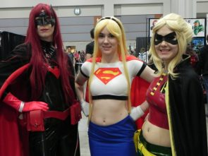 Batwoman Supergirl and Robin