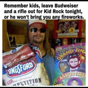 Leave Budweiser and a rifle out for Rid Rock