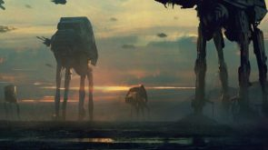 AT-AT walker Star Wars gritty concept