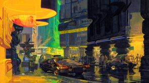 Blade Runner Streets by Syd Mead 1981