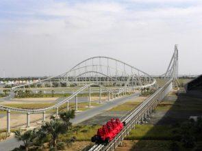 Formula Rossa – world's fastest roller coaster 150 mph 0-100 in 2 seconds – Ferrari World Abu Dhabi United Arab Emirates