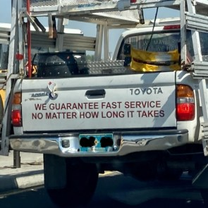 we guarantee fast service no matter how long it takes