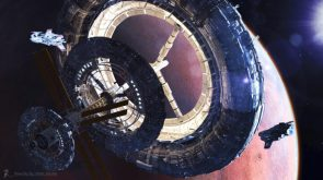 Phobos Sky City by Erik Stitt