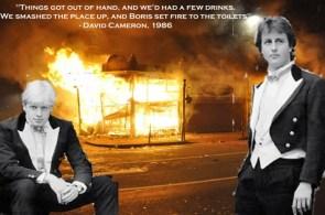 The yobbish hypocritical toff history of David Cameron & Boris Johnson.