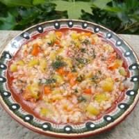 Тиквички с ориз по селски