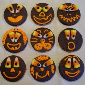 Candy Corn Face Cookies