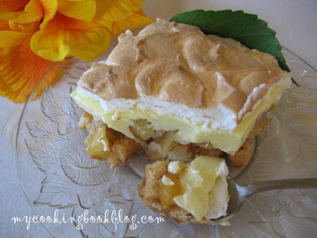 Крем или Трифъл (Trifle) с ябълки и белтъчна глазура
